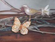 """""""Bird and Butterfly"""". Oil on canvas. 2011."""
