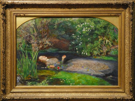 """""""Ophelia"""" by John Millais."""