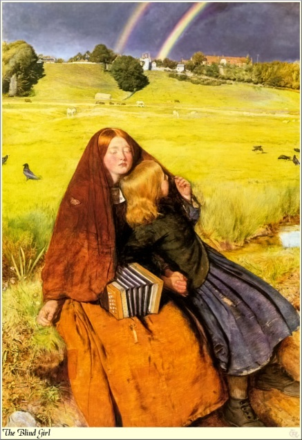 """The Blind girl"", John Millais."