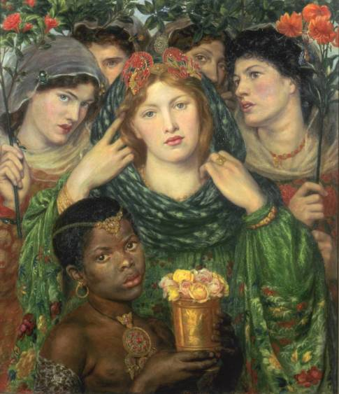 """The Beloved ('The Bride')"" 1865-6, by  Dante Gabriel Rossetti."