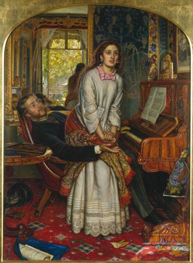 """The Awakening Conscience"" (1853). William Holman Hunt."