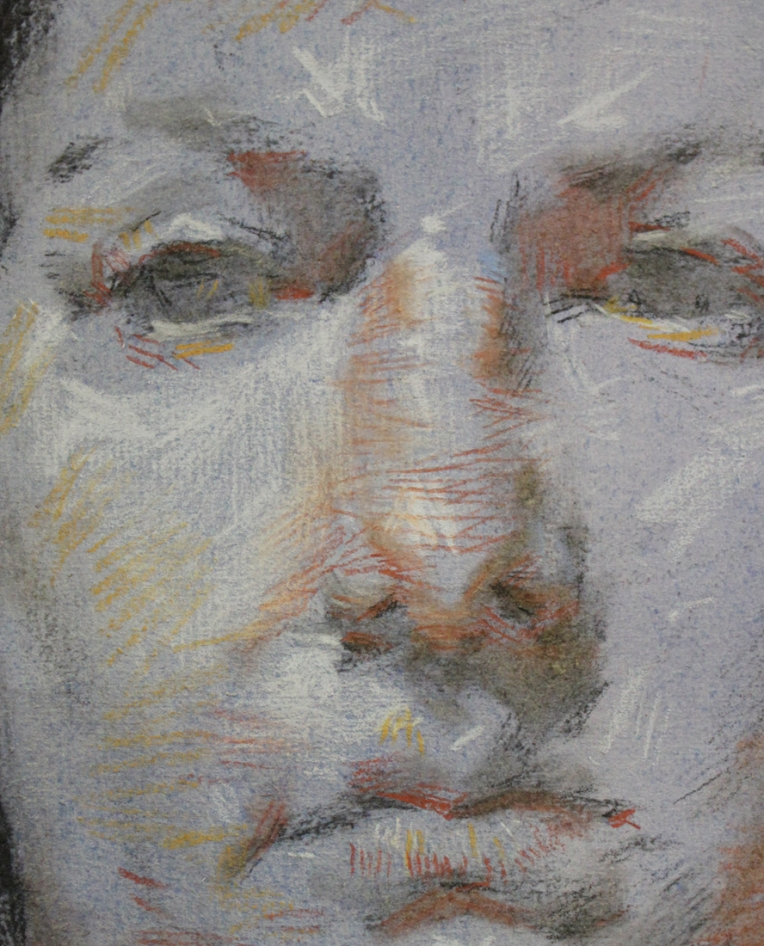 Detail of Dan Thompson's 4 color chalk demo.