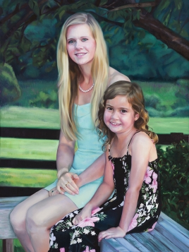 """Caroline and Annika"". Oil on canvas. 2015."